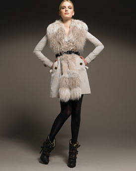 BURBERRY FUR FASHIONDAILYMAG.com I WANT TO BE A POLAR BEAR vest at Neimans