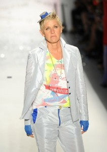 Ellen Degeneres walks the runway at the Richie Rich Spring 2011 fashion show during Mercedes-Benz Fashion Week at The Studio at Lincoln Center on in New York City. (Photo by Frazer Harrison/Getty Images for IMG) on FDM www.fashiondailymag.com by Brigitte Segura