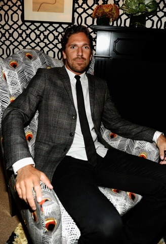 NHL player Henrik Lundqvist attends the Mercedes-Benz Fashion Week Spring 2011 Official Coverage at Lincoln Center on in New York City. (Photo by Michael Buckner/Getty Images for Mercedes-Benz) on FDM www.fashiondailymag.com by Brigitte Segura