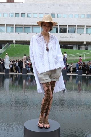 Catherine Malandrino Spring Summer 2011 during Mercedes-Benz Fashion Week in NY photo by Ed Kavishe/Fashion Wire Press www.fashionwirepress.com on FDM fashiondailymag.com by Brigitte Segura
