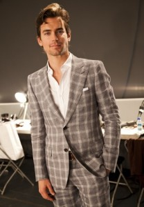 Matt Bomer at the Simon Spurr spring/summer 2011 collection photo by Justin Marquis STARWORKS on FDM www.fashiondailymag.com by Brigitte Segura