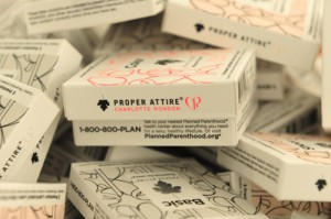 CHARLOTTE RONSON and PROPER attire condoms collaboration on FDM fashiondailymag.com