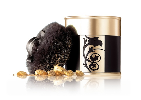 CLARINS Gold Powder Box in GOLDEN beauties as GIFTS on FashionDailyMag.com brigitte segura