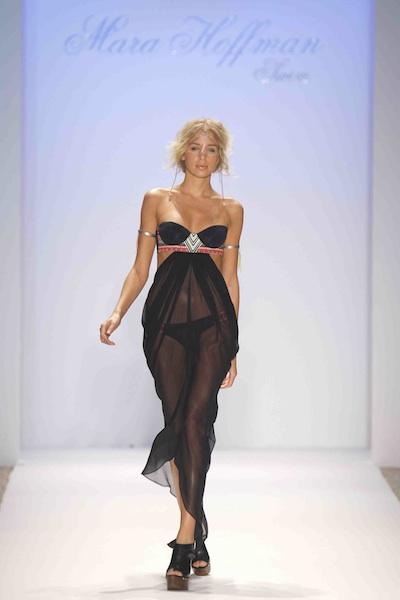 MARA HOFFMAN lady black chiffon at netaporter.com runway image by Randy Brooke on fashion daily mag