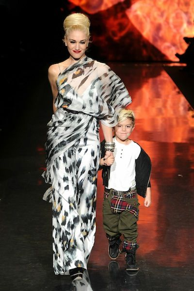 GWEN STEFANI and KINGSTON ROSSDALE at LAMB f2011 show photo FRAZER HARRISON   GETTY IMAGES for Mercedes-Benz on fashiondailymag