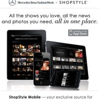 MERCEDES-BENZ FASHION WEEK NY now has app with SHOPSTYLE
