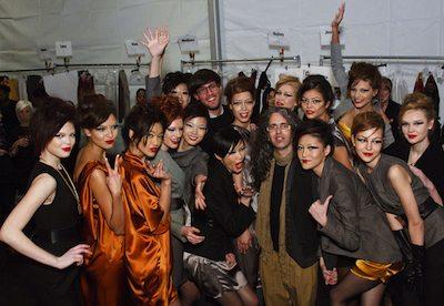 TONI FRANCESC backstage outlook FW2011 MBFWNY on fashiondailymag