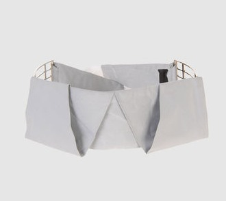 """COSTUME NATIONAL fabric belt almost 4"""" at yoox on the FASHIONDAILYMAG belt kingdom"""