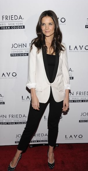 katie holmes redcarpet john frieda photo publicist on FashionDailyMag