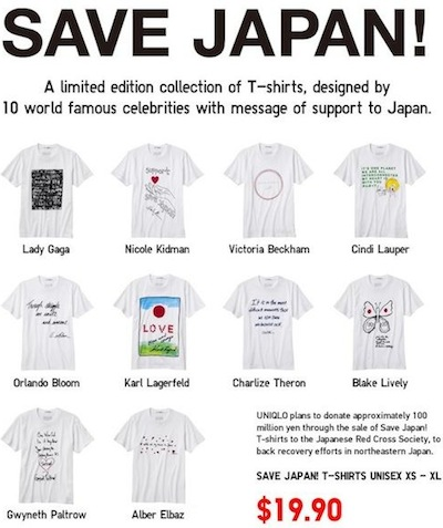 SAVE JAPAN uniqlo Ts coming in june SAVE JAPAN x UT on FashionDailyMag