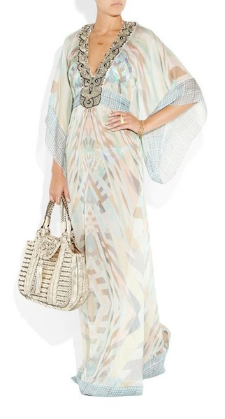 SHEER in MATTHEW WILLIAMSON sel 6 mint kaftan NaP on FashionDailymag.com brigitte segura