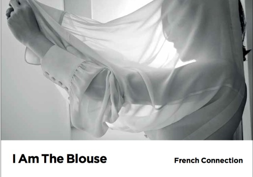 french connection campaign fw2011 white sheer FashionDailyMag brigitte segura