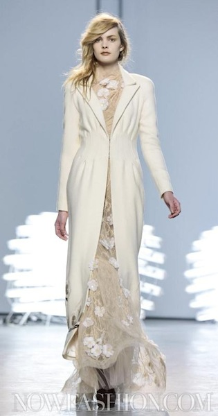 neutrals + lights on FALL 2011 runway