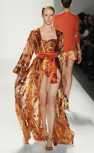 NORMAN AMBROSE gorgeous dress ss12 FashionDailyMag ph frazer harrison getty images on fdm