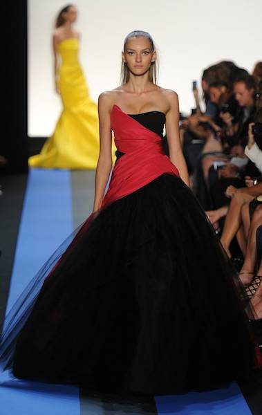 MONIQUE LHUILLIER spring 2012 S FashionDailyMag sel 3 brigitte segura ph frazer harrison getty