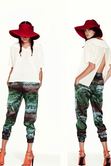 TUCKER spring 2012 sel printed pants 2 brigitte segura fdmLOVES