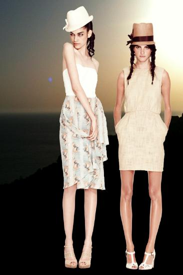 TUCKER spring 2012 sel 3 printed neutrals FashionDailyMag