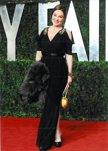 BECCA CASON THRASH wearing ALEXANDER McQUEEN at VANITY FAIR PARTY on FashionDailyMag