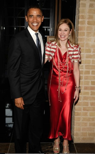 BECCA with PRESIDENT OBAMA photo PWL studio | courtesy of BECCA CASON THRASH on FashionDailyMag