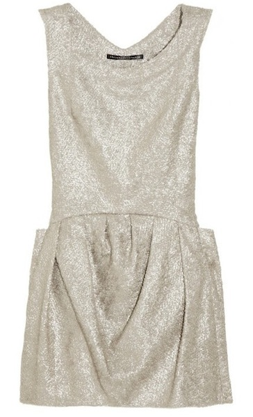 THEYSKENS THEORY brocade mini dress shine on FashionDailyMag