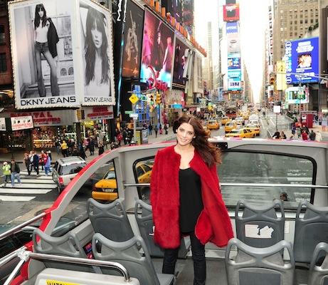 Ashley Greene unveils DKNY jeans spring 012 FashionDailyMag sel 1