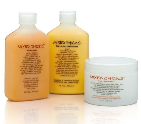 MIXED CHICKS curly hair shampoo + conditioner on FashionDailyMag