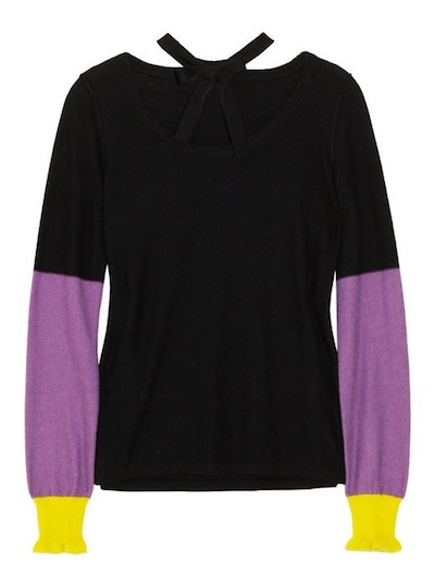sonia by sonia rykiel color blocked cashmere sweater just CASHMERE FDMLOVES