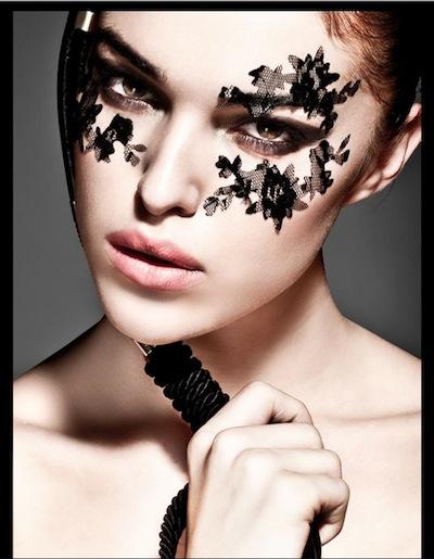 BEAUTY and lace photo ana coelo makeup junior quieros model sara smith FashiondailyMag beauty