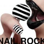 NAIL ROCK designer nail wraps striped on FashionDailyMag