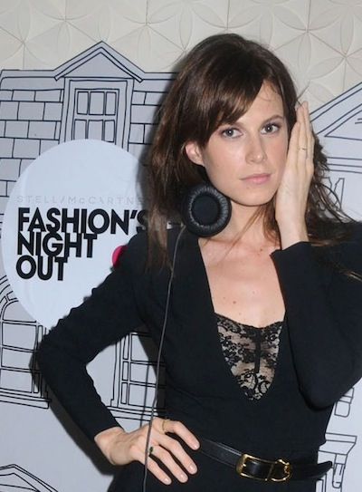 Elettra Rossellini Wiedemann GOODNESS NYC during fashion week