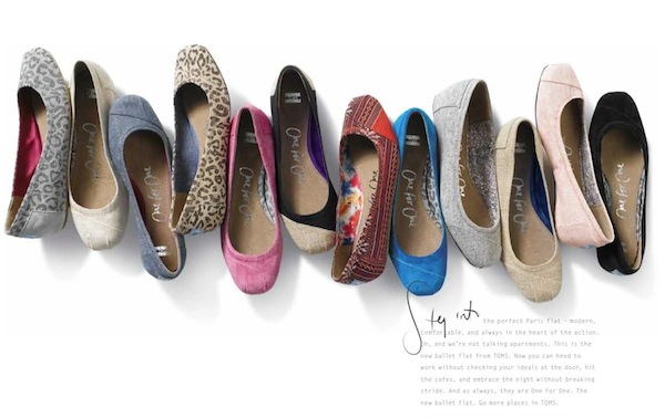 TOMS ballet flats launch today FashionDailyMag