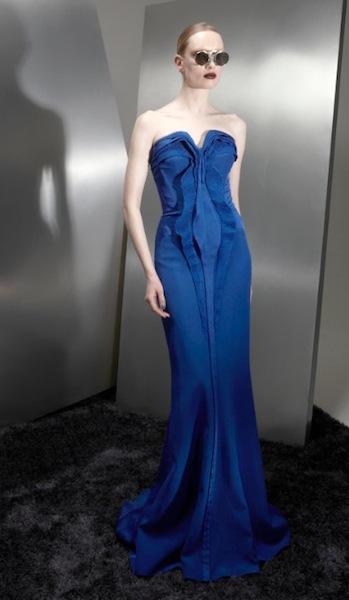 BASIL SODA AW 2012 RTW FashionDailyMag sel blue long gown
