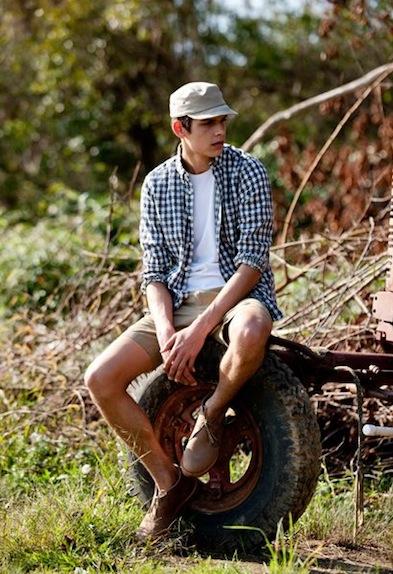 STEVEN ALAN couple spring lifestyle mens checkered shirt FashionDailyMag