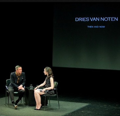 DRIES VAN NOTEN fiaf fashion talks 2012 FashionDailyMag