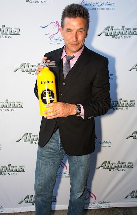 BILLY BALDWIN brand ambassador for Alpina extreme diver watches