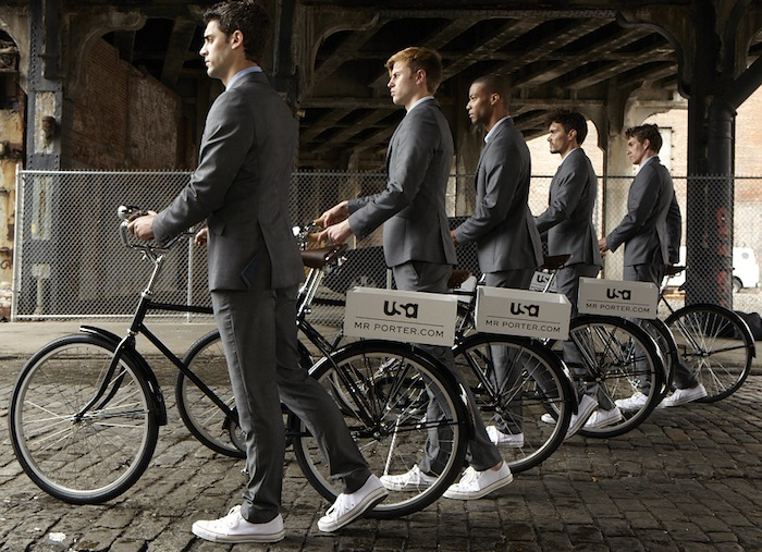 Army of Suitors  downtown NYC celebrate SUITS with MrPorter fdmLOVES