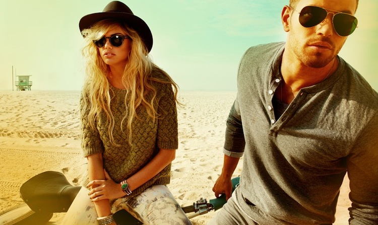 KELLAN LUTZ in CALIFORNIA dreaming campaign with KATE UPTON
