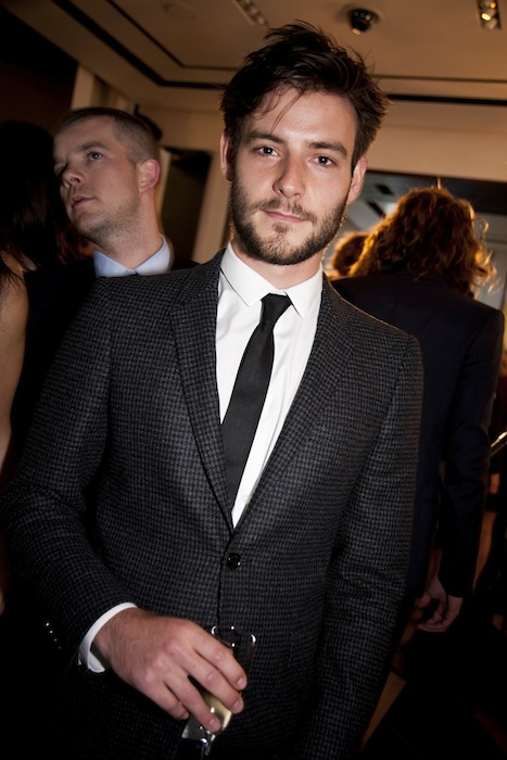 roo panes at the burberry event in knightsbridge london with christopher bailey and eddie redmayne on FashionDailyMag