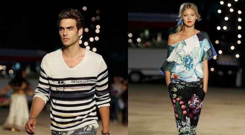 DESIGUAL patterned for SPRING 2013 runway Barcelona