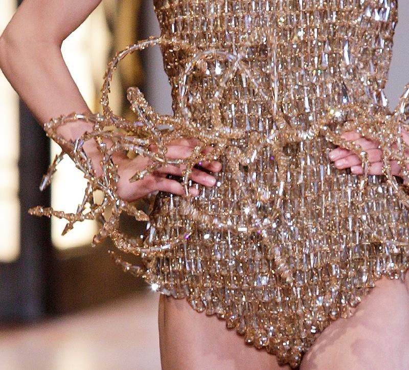 IRIS van HERPEN haute couture fall 2012 paris FashionDailyMag detail swarovski