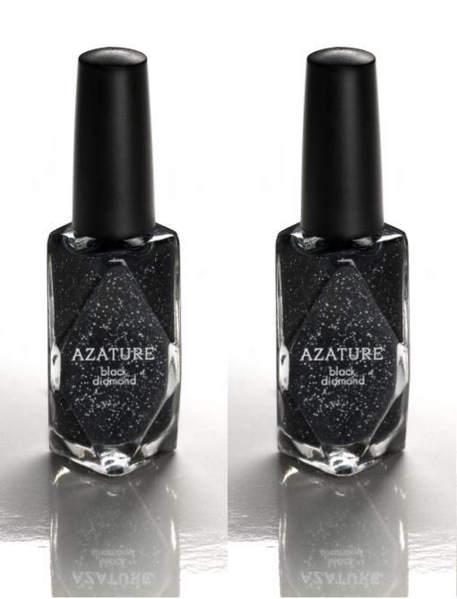 AZATURE black diamond most expensive nail polish