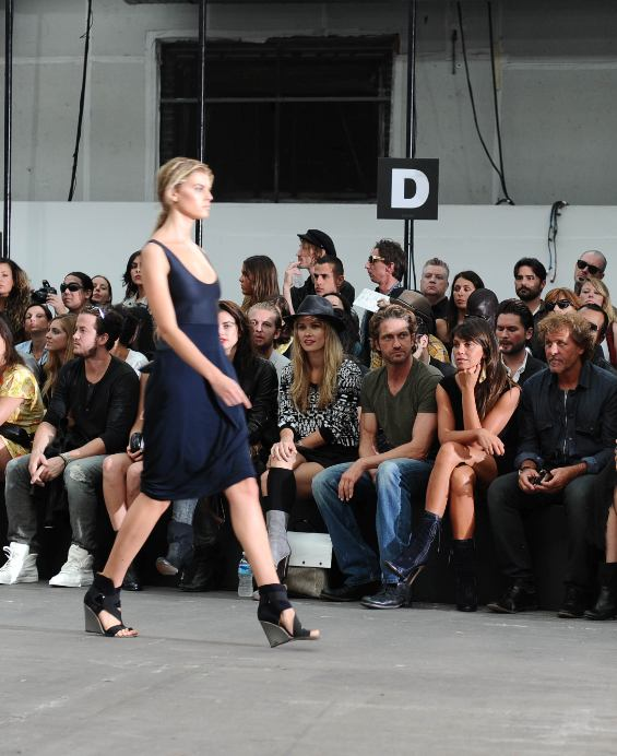 DIESEL BLACK GOLD ss12 front row gerard butler and renzo rosso on FashionDailyMag
