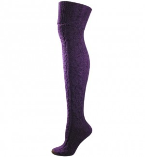 GOLD TOE OVER THE KNEE SOCKS cable purple