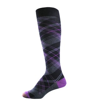 GOLD TOE argyle purple socks