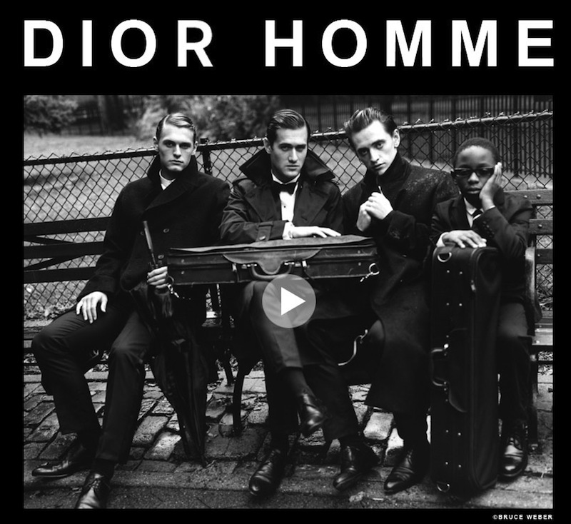 BRUCE WEBER 'makes music fly' for DIOR HOMME