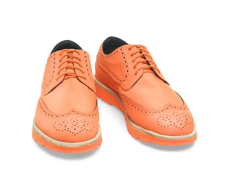 Charles swims brogues