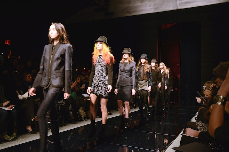 CATCHING UP: front row at NICOLE MILLER