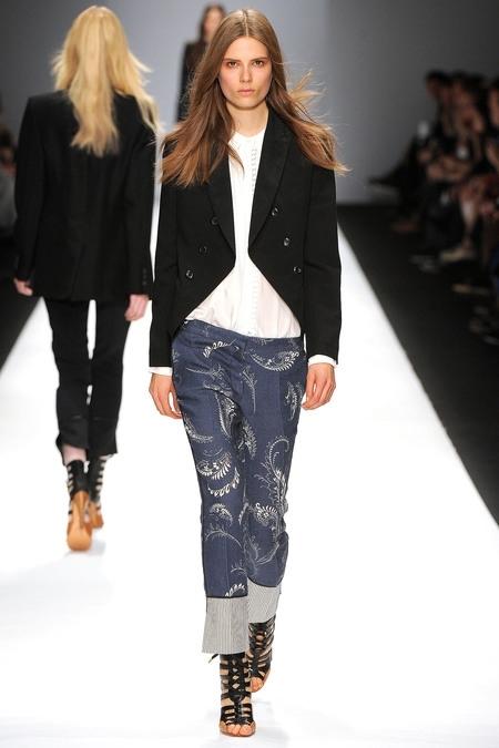 VANESSA BRUNO FashionDailymag sel Marine printed pants