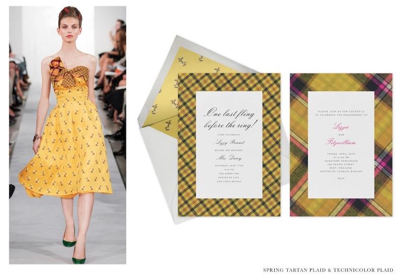 OSCAR DE LA RENTA paperless spring tartan plaid | FashionDailyMag 3
