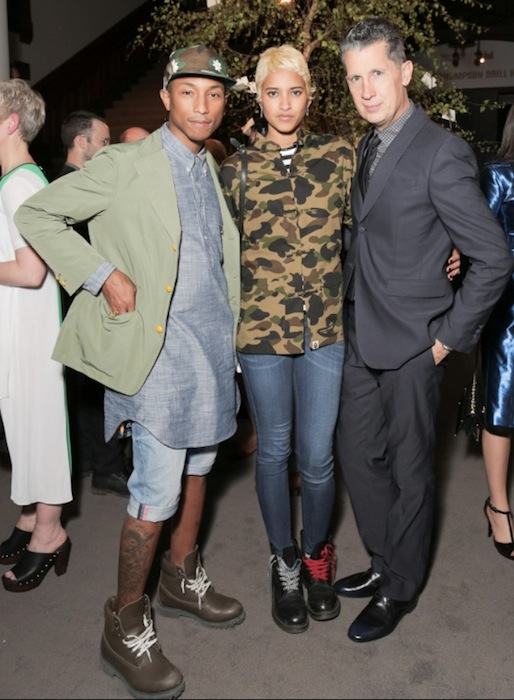 PHARRELL WILLIAMS, helen lasinchah and stefano tonchi at Wmag   Burberry   fashiondailymag